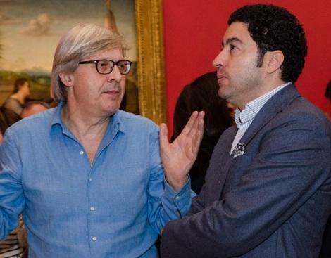 Visita Vittorio Sgarbi al Museo degli Uffizi con Salvo Nugnes - Firenze (6)