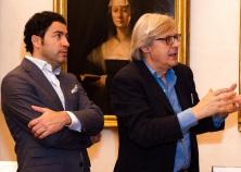 Visita Vittorio Sgarbi al Museo degli Uffizi con Salvo Nugnes - Firenze (7)